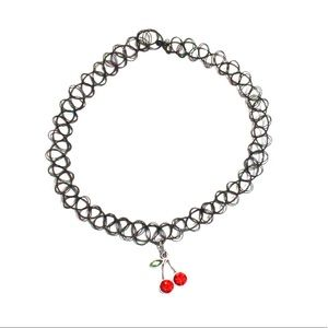 Cherry Charm 90s Y2K Choker Necklace
